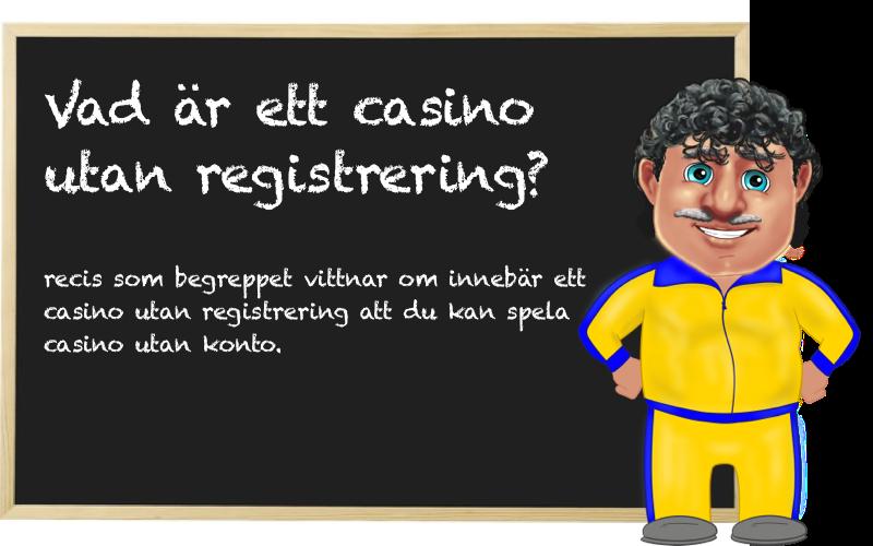 casino utan konto eller registrering